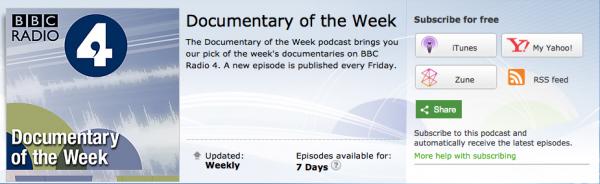 BBC Radio Documentary of the Week