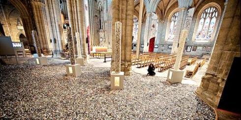 6 Million+ temporary installation Ripon Cathedral 2010 | photo:Richard Hanson